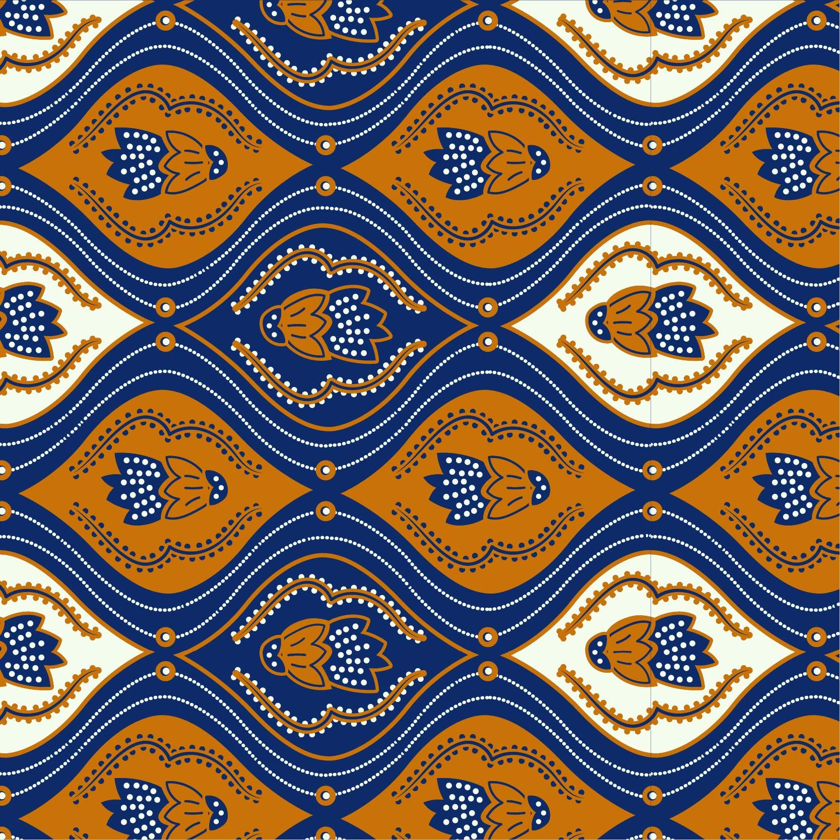 几何花纹拼接印花矢量图服装纺织面料数码印花花型素材-POP花型网
