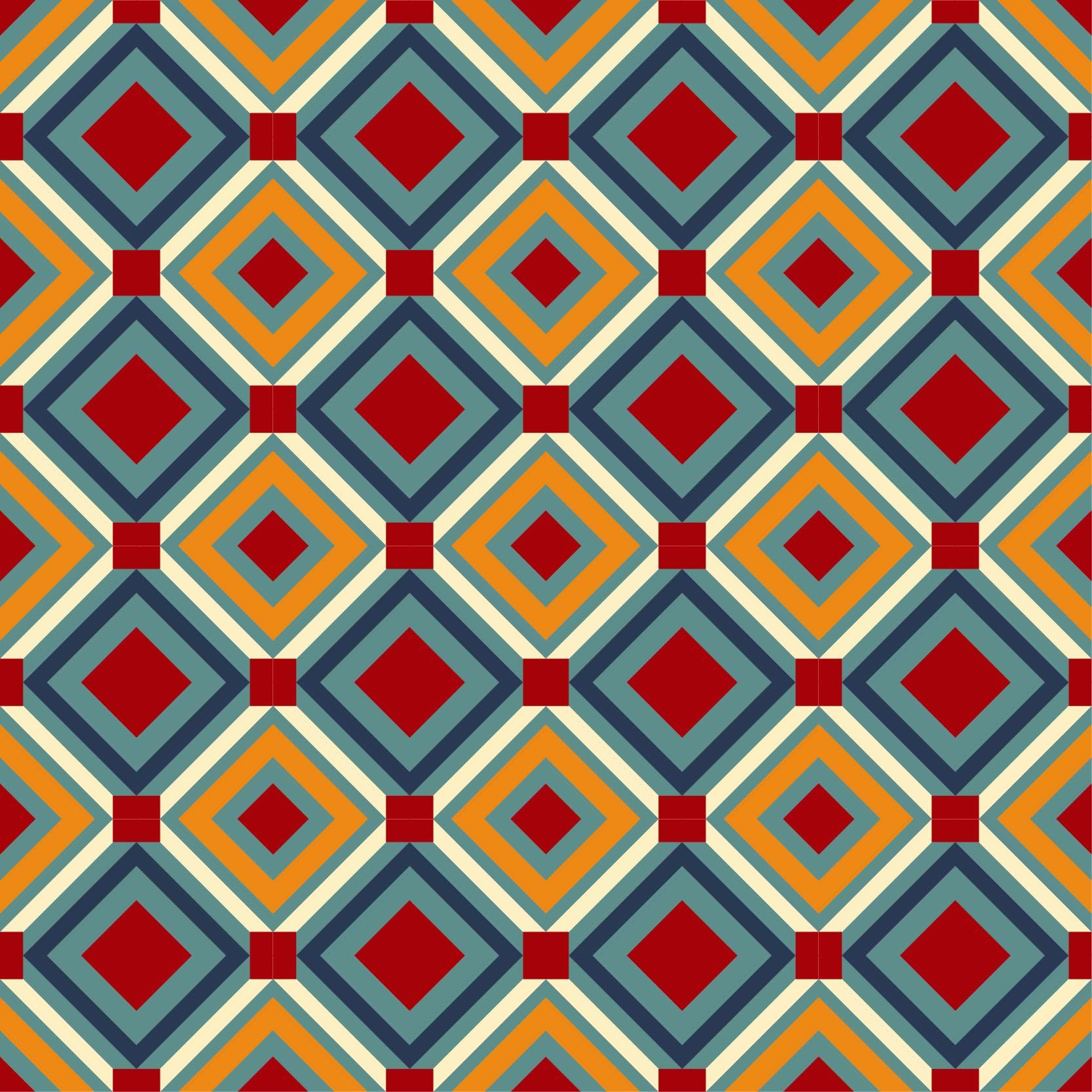 几何花纹拼接马赛克印花矢量图服装纺织面料数码印花花型素材-POP花型网