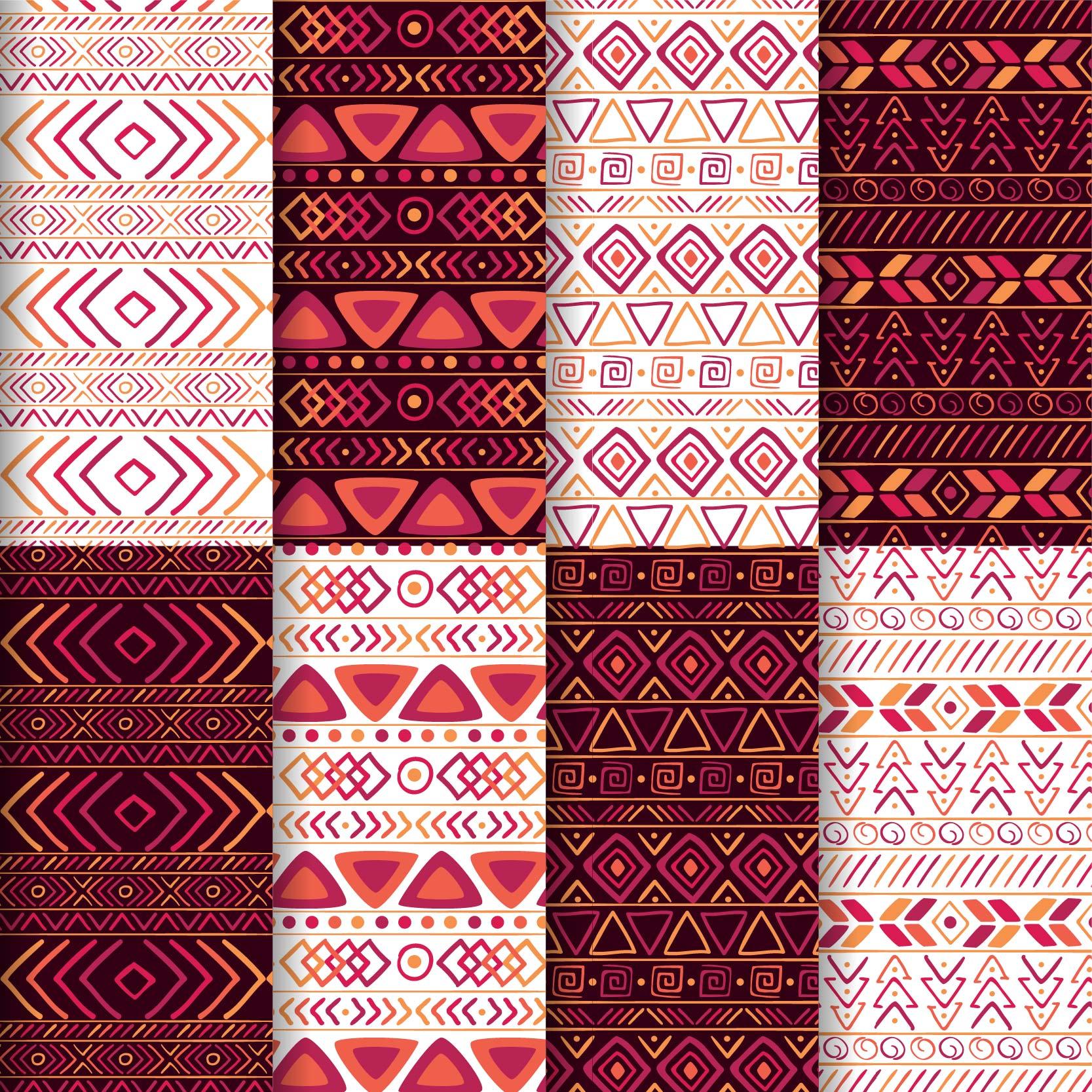 几何图案线条拼接印花矢量图服装纺织面料数码印花花型素材-POP花型网