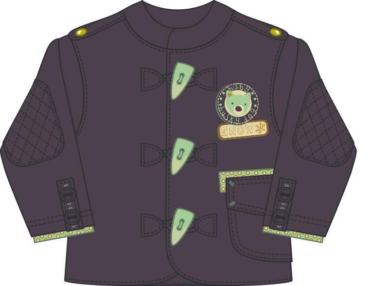儿童服装外套大衣设计矢量图-POP花型网