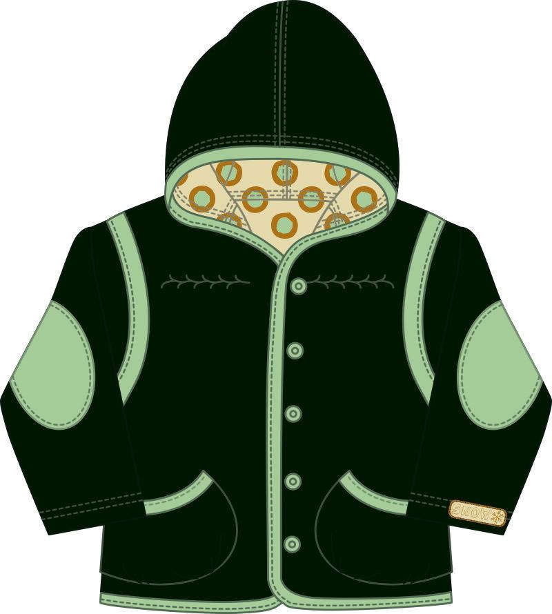 儿童服装连衣帽外套设计矢量图-POP花型网