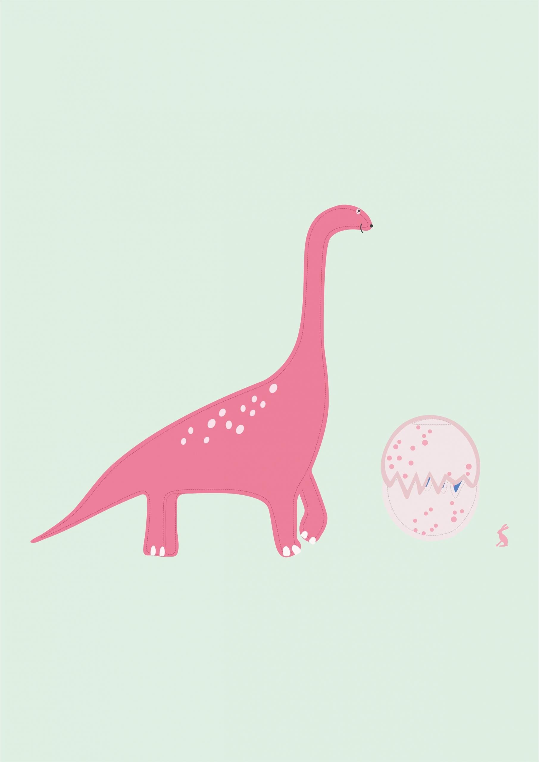 卡通动漫恐龙印花矢量图服装裁片T恤烫图印花花型素材-POP花型网