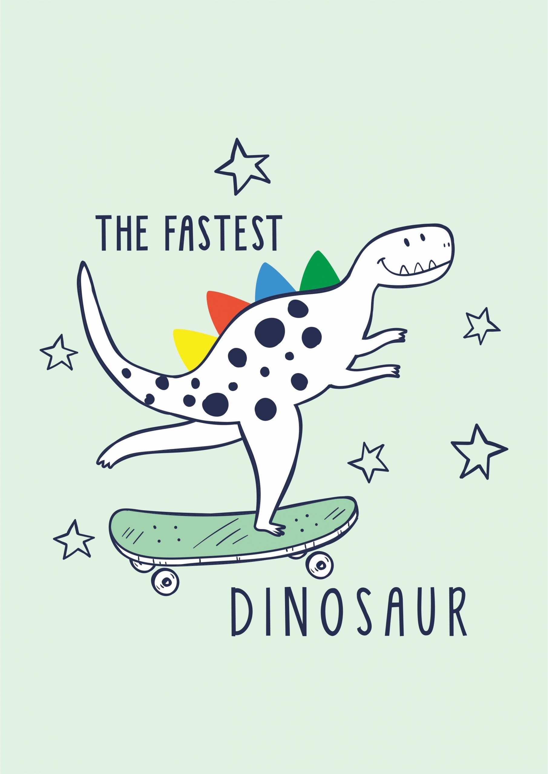 卡通动漫恐龙字母星星滑板拼接印花矢量图服装裁片T恤烫图印花花型素材-POP花型网