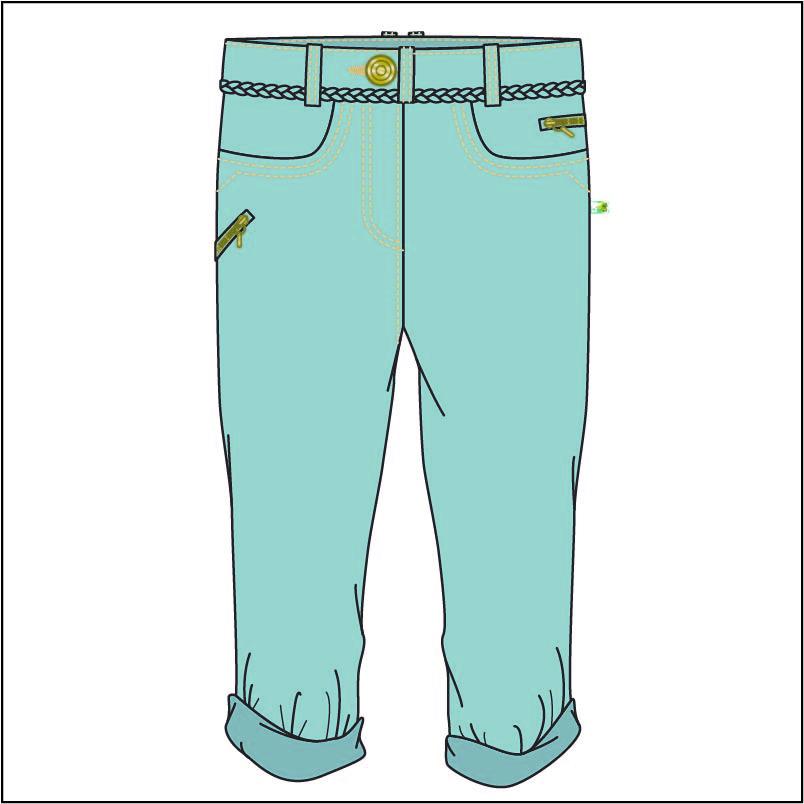 女装牛仔长裤设计矢量图服装设计素材-POP花型网