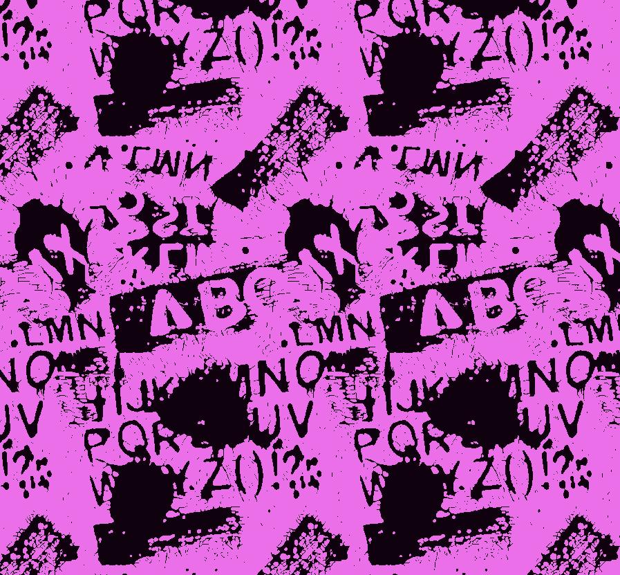 几何涂鸦字母拼接印花矢量图服装纺织面料水印数码印花金昌花型素材-POP花型网