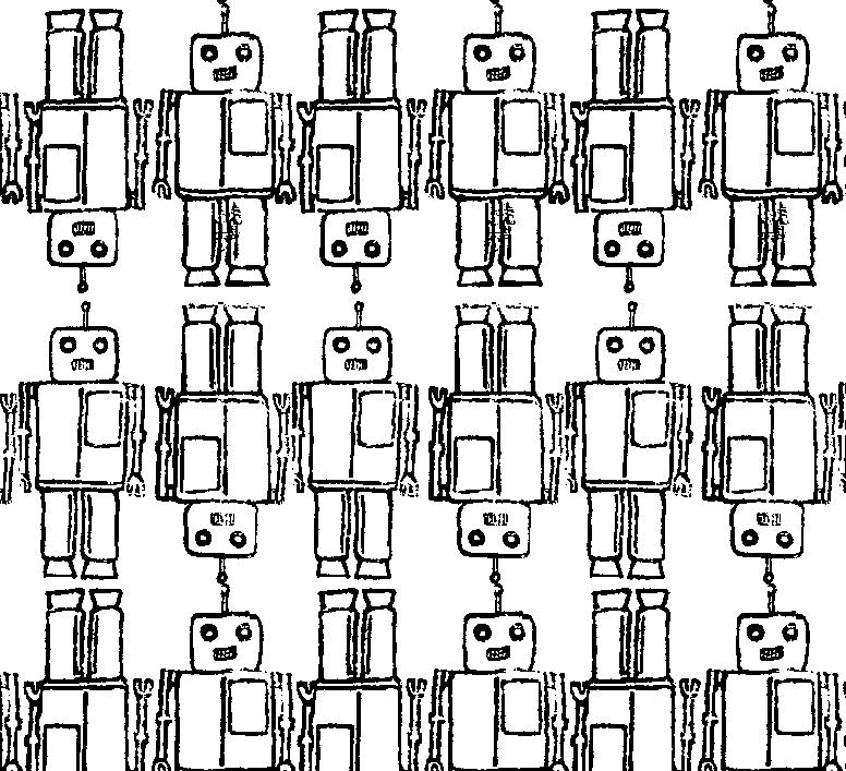 几何图案拼接机器人印花矢量图服装纺织面料水印数码印花金昌花型素材-POP花型网