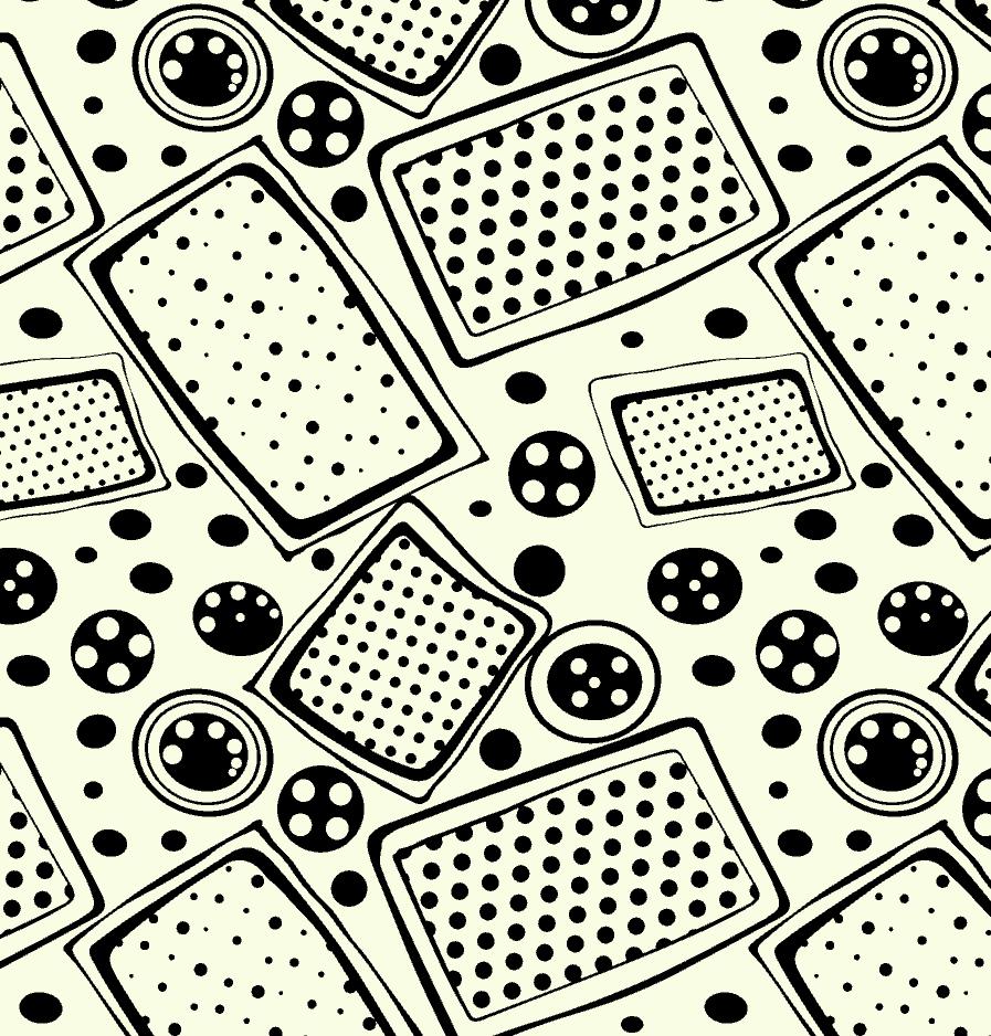 几何图案圆点拼接印花矢量图服装纺织面料水印数码印花金昌花型素材-POP花型网