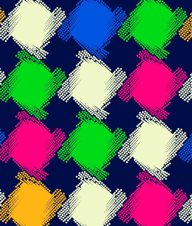 多彩几何图形拼接印花矢量图服装纺织面料水印数码印花金昌花型素材-POP花型网