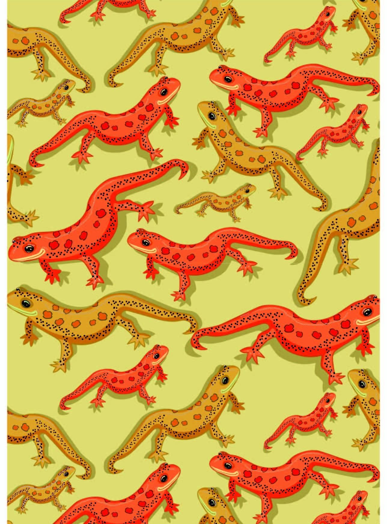 动物壁虎印花矢量图服装纺织面料数码印花花型素材-POP花型网