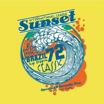 几何字母海浪印花矢量图服装裁片T恤烫图印花花型素材-POP花型网