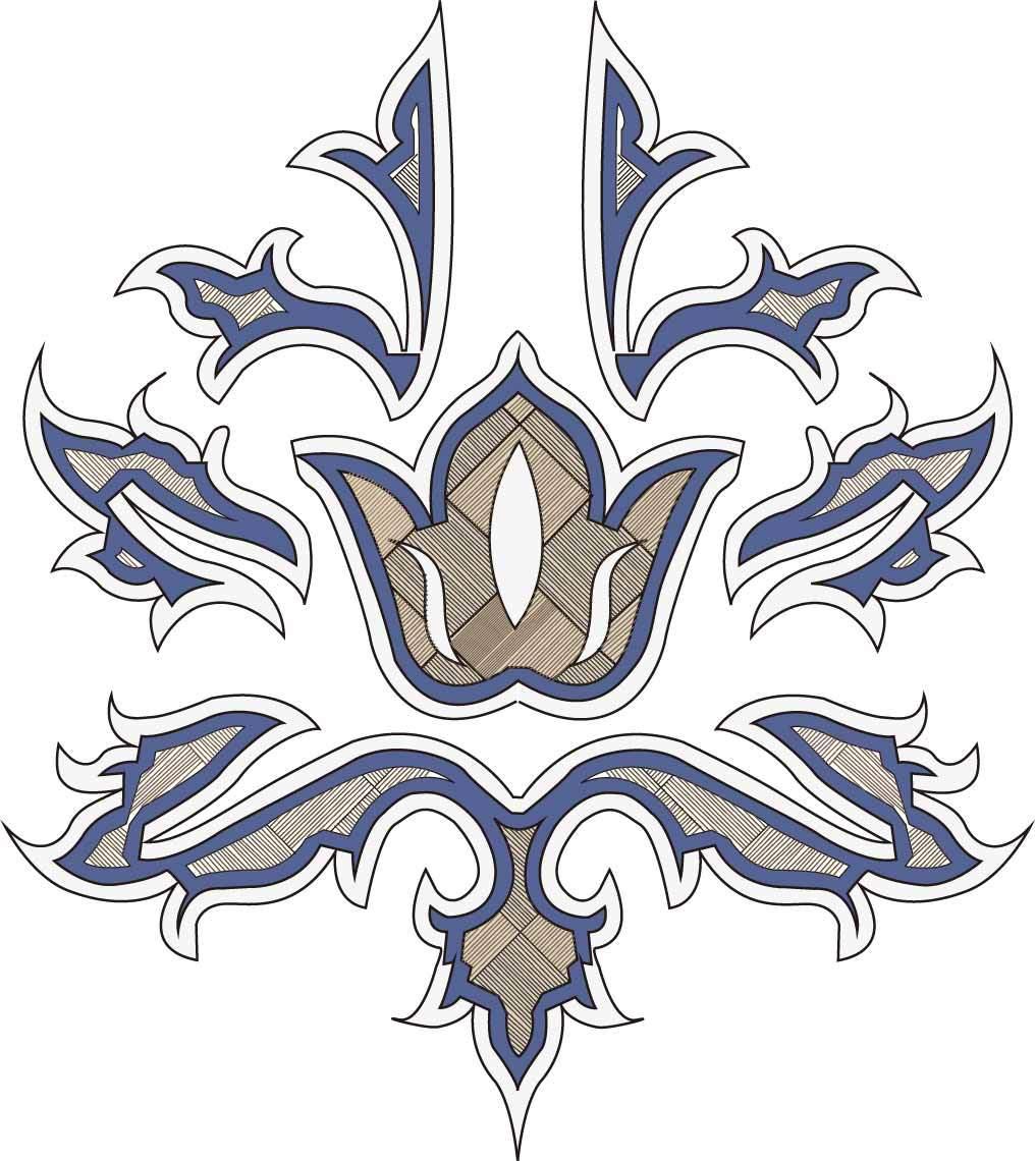 几何花纹图案矢量图服装裁片T恤烫图印花花型素材-POP花型网