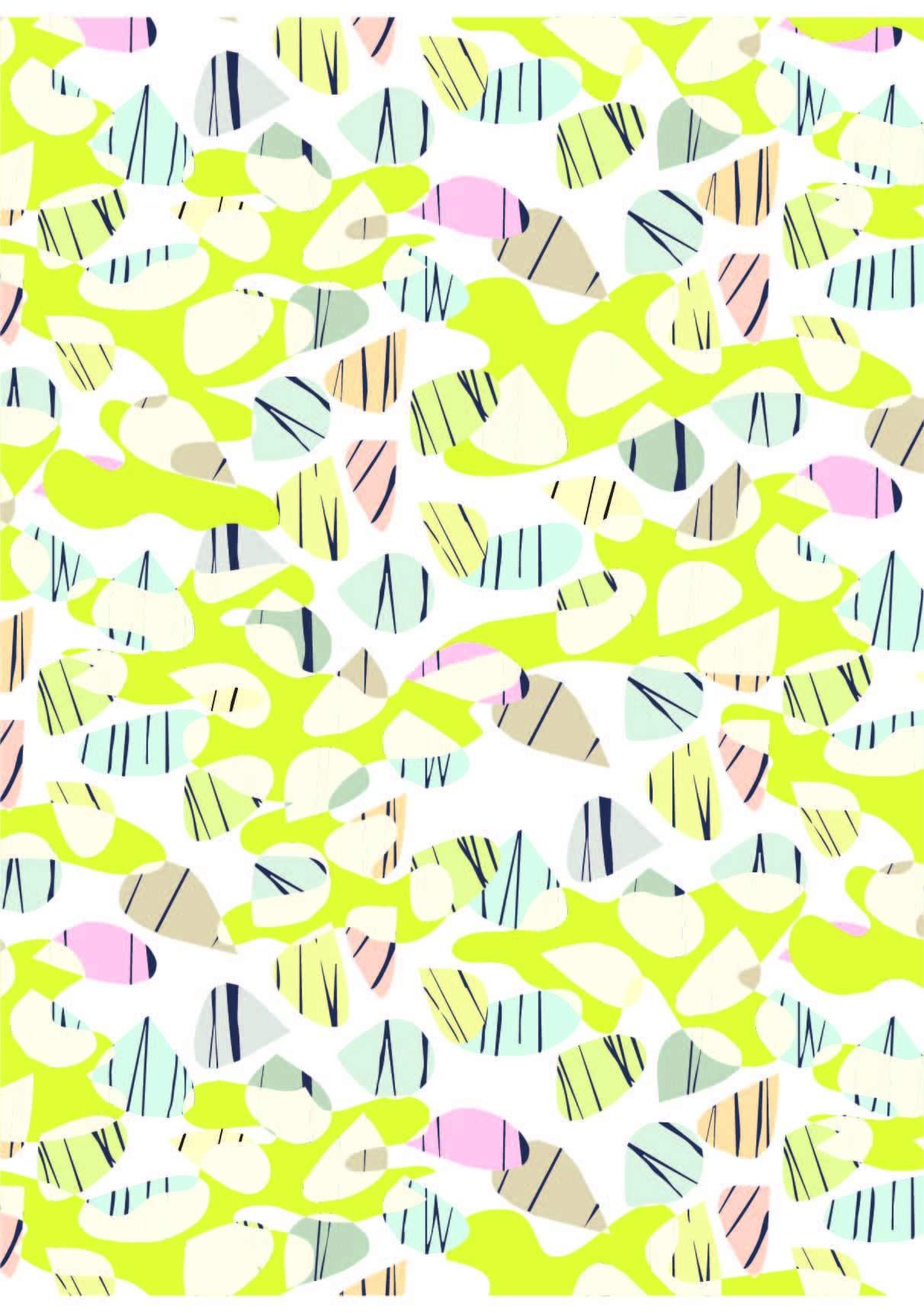 几何花纹线条涂鸦印花矢量图服装纺织面料数码印花花型素材-POP花型网