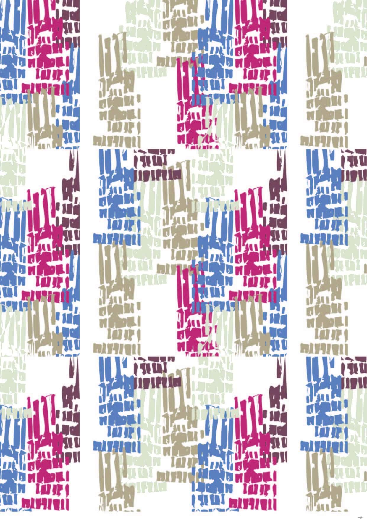 几何涂鸦印花矢量图服装纺织面料数码印花花型素材-POP花型网