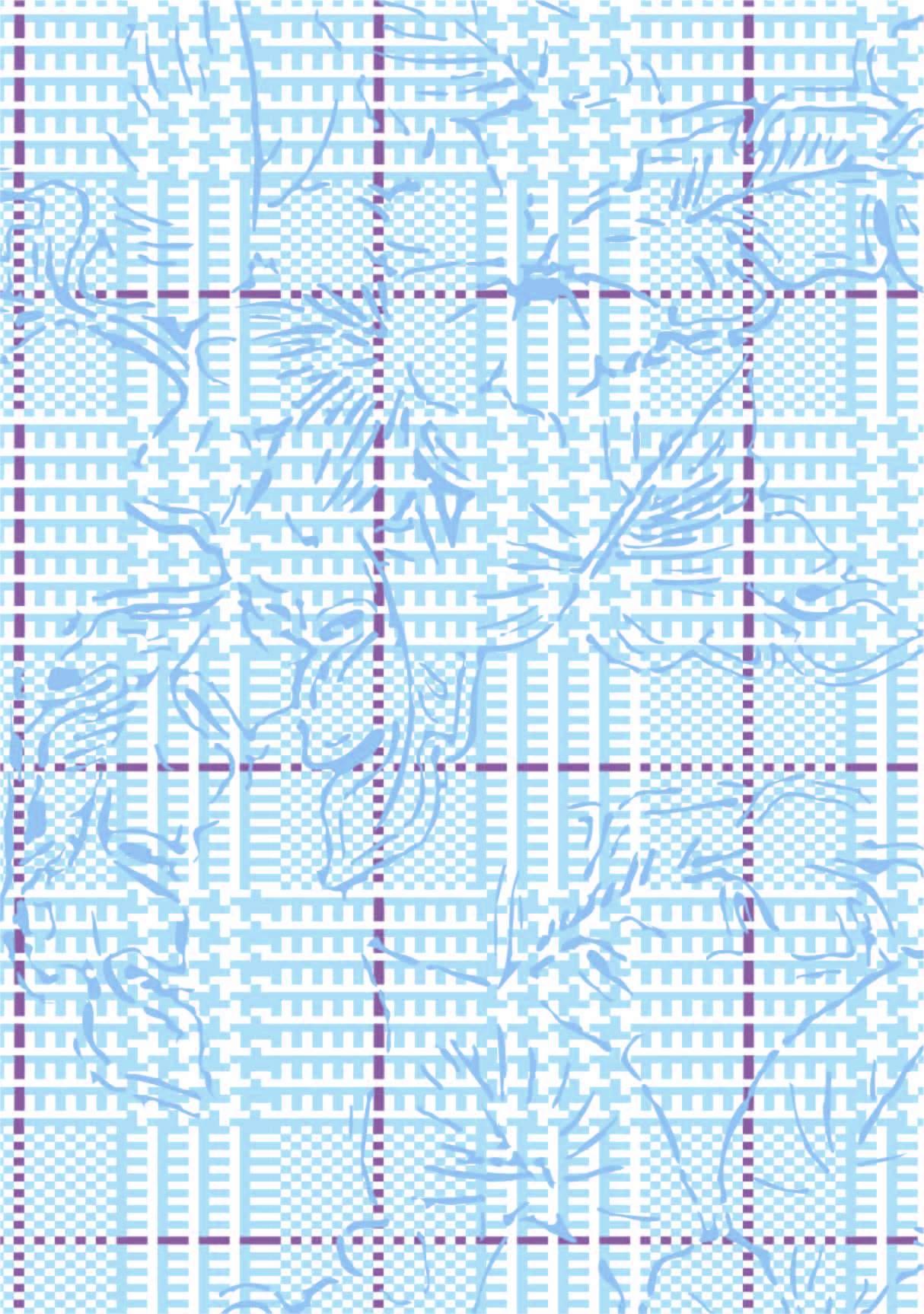 几何花纹线条格子印花矢量图服装纺织面料数码印花花型素材-POP花型网