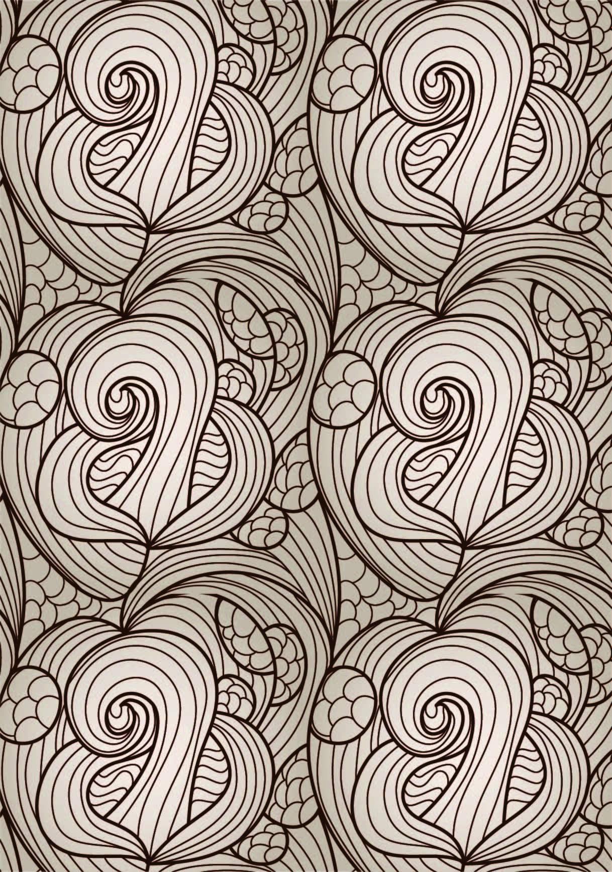 几何花纹波浪印花矢量图服装纺织面料数码印花花型素材-POP花型网