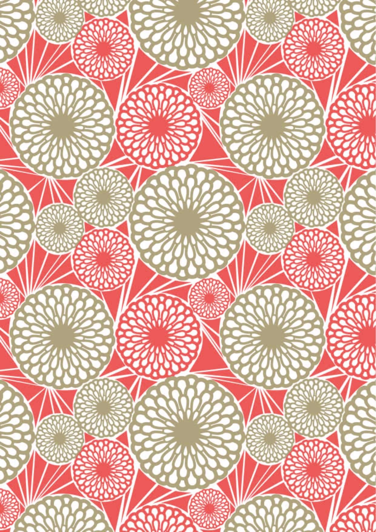 几何花纹线条圆形图案拼接印花矢量图-POP花型网