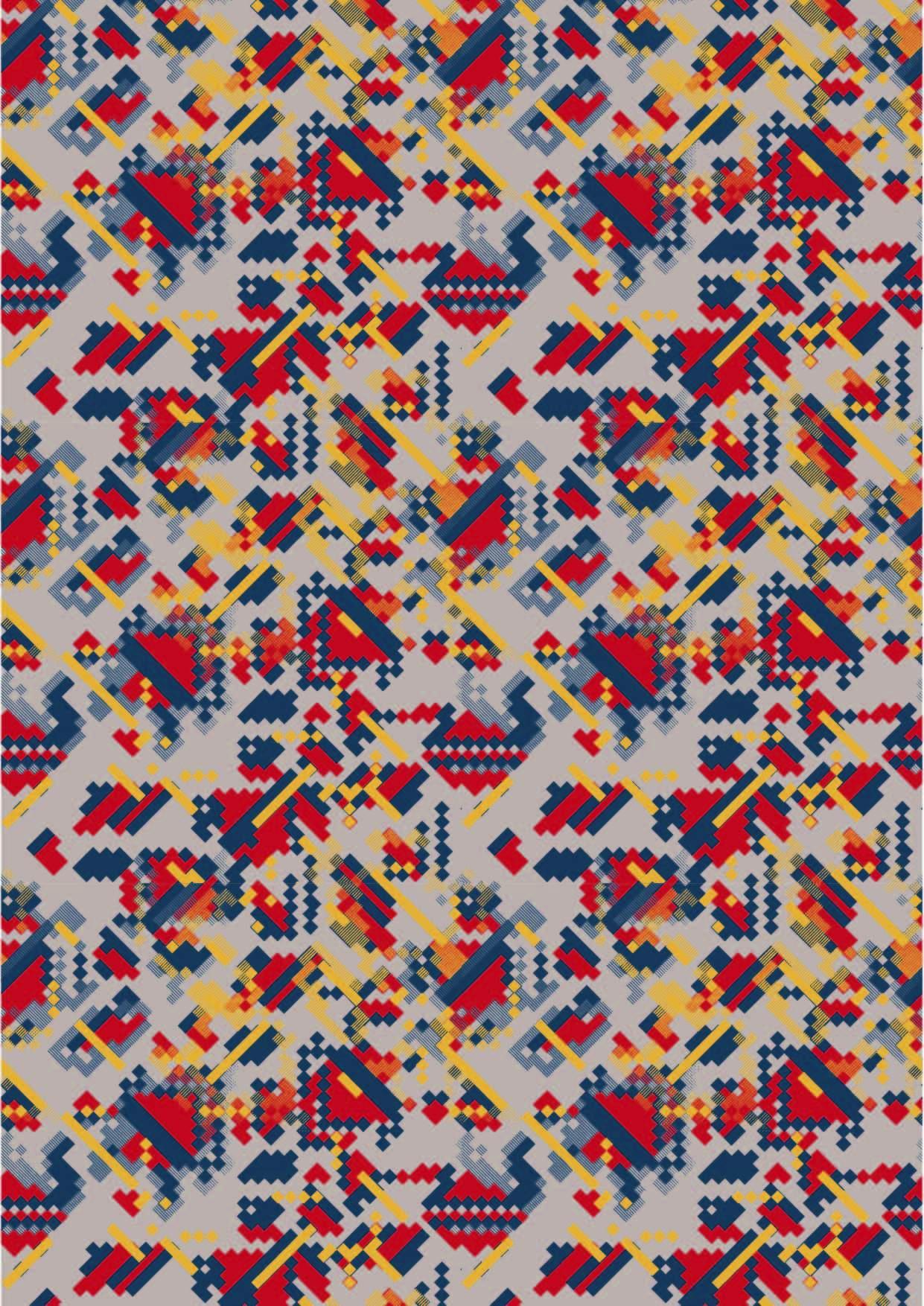 几何图案拼接马赛克图案印花矢量图服装纺织面料数码印花花型素材-POP花型网