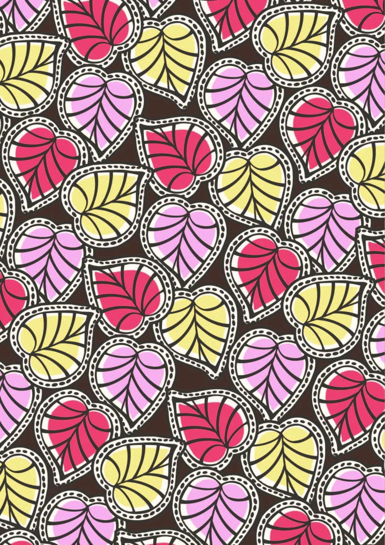 几何图案植物叶子拼接印花矢量图服装纺织面料数码印花花型素材-POP花型网