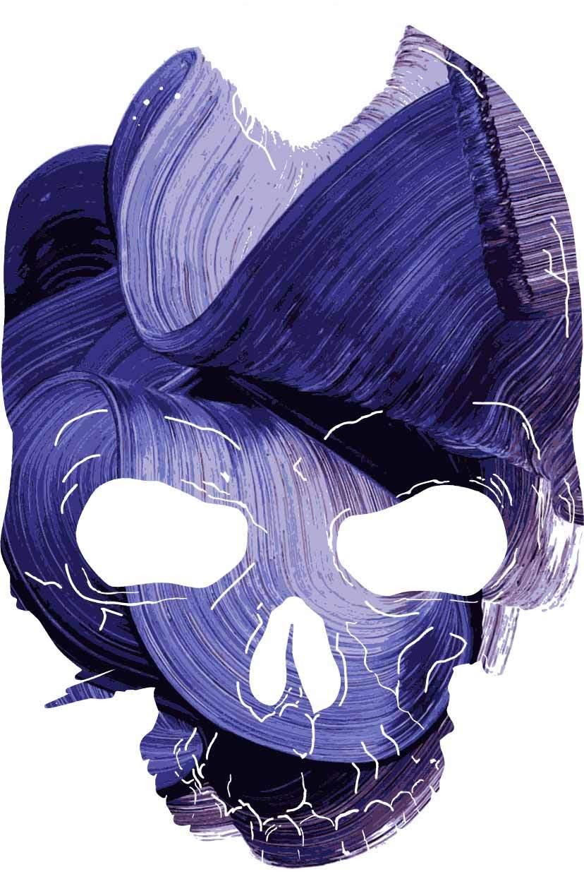 几何图案骷髅头印花矢量图服装裁片T恤烫图印花花型素材-POP花型网