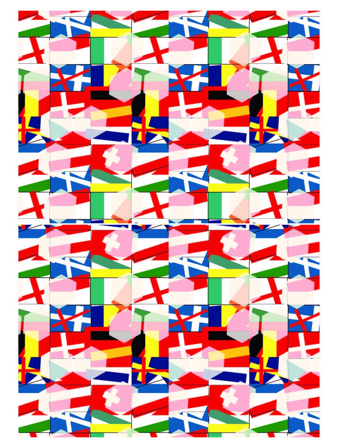 几何花纹方格线条拼接印花矢量图服装纺织面料数码印花花型素材-POP花型网
