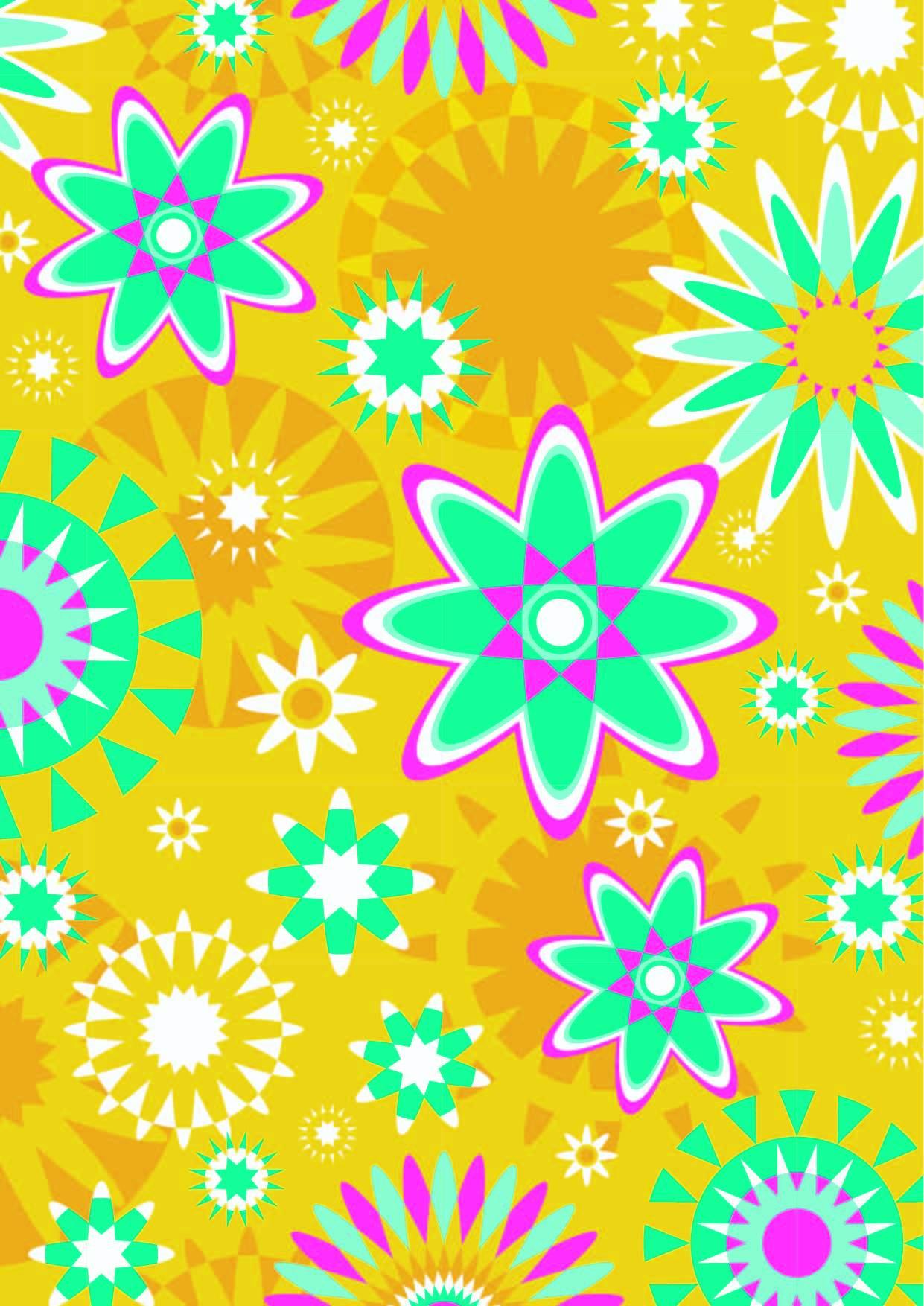 几何图案印花矢量图服装纺织面料数码印花花型素材-POP花型网