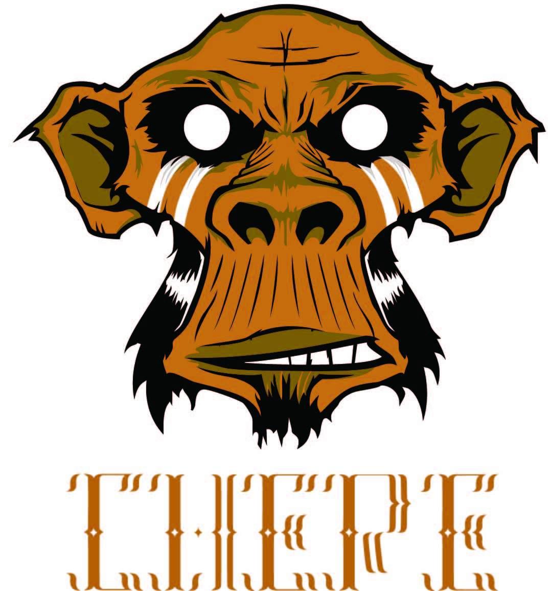 动物猩猩字母印花矢量图服装裁片T恤烫图印花花型素材-POP花型网