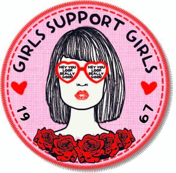 女孩字母玫瑰花印花矢量图服装裁片T恤烫图印花花型素材-POP花型网
