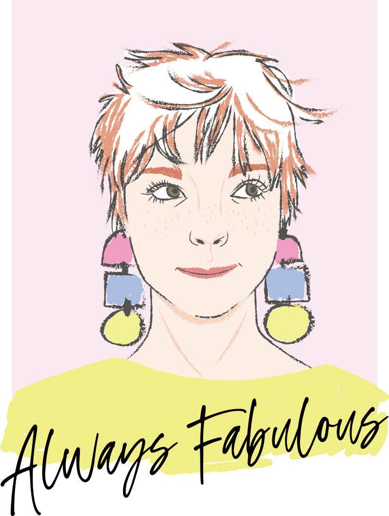 女孩人物字母印花矢量图服装裁片T恤烫图印花花型素材-POP花型网