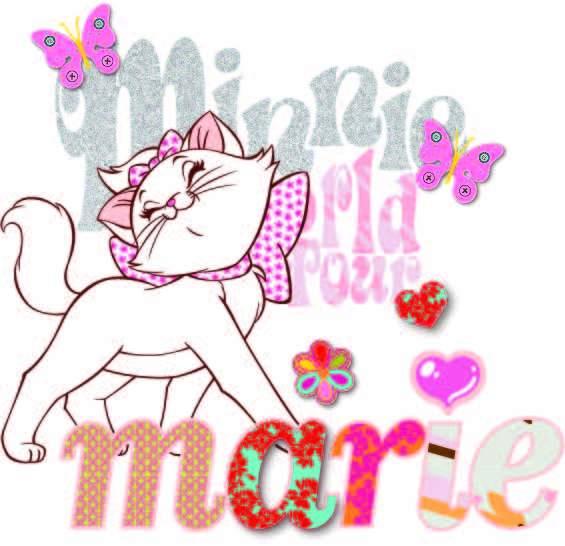 卡通动漫猫咪字母蝴蝶印花矢量图服装裁片T恤烫图印花花型素材-POP花型网