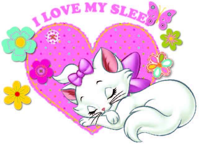 卡通动漫猫咪字母爱心印花矢量图服装裁片T恤烫图印花花型素材-POP花型网