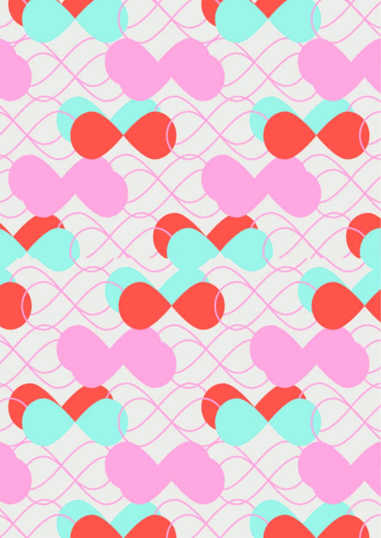 几何图案波浪线条印花矢量图服装裁片T恤烫图印花花型素材-POP花型网