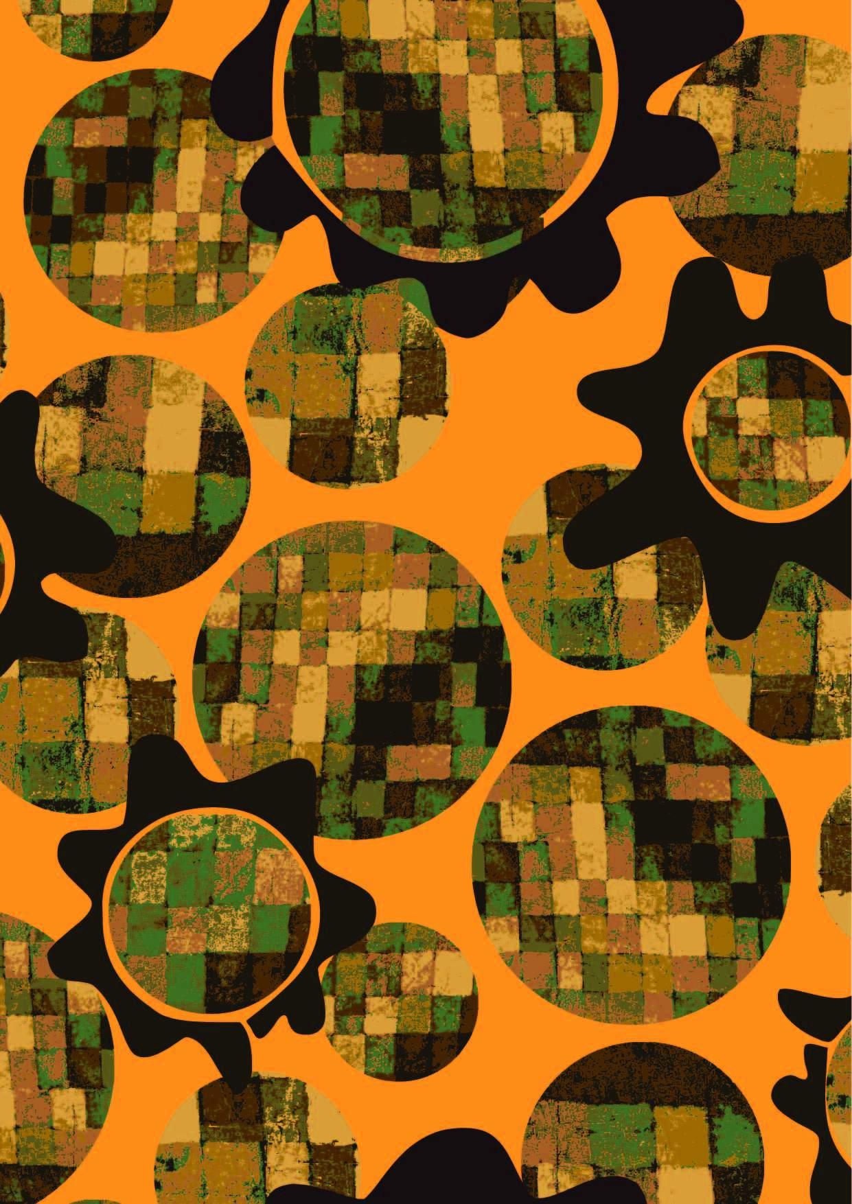 几何圆点小方格印花矢量图服装纺织面料数码印花花型素材-POP花型网