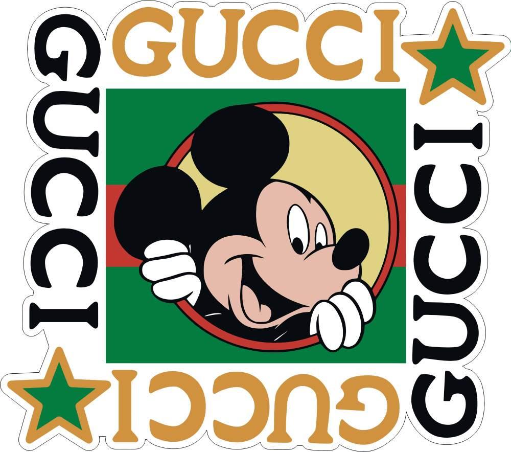 潮牌字母卡通动漫迪士尼米奇印花矢量图服装裁片T恤烫图印花花型素材-POP花型网