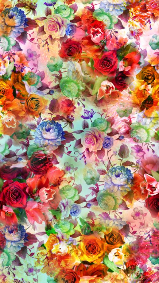 植物花卉玫瑰花印花图案服装纺织面料数码印花花型素材-POP花型网