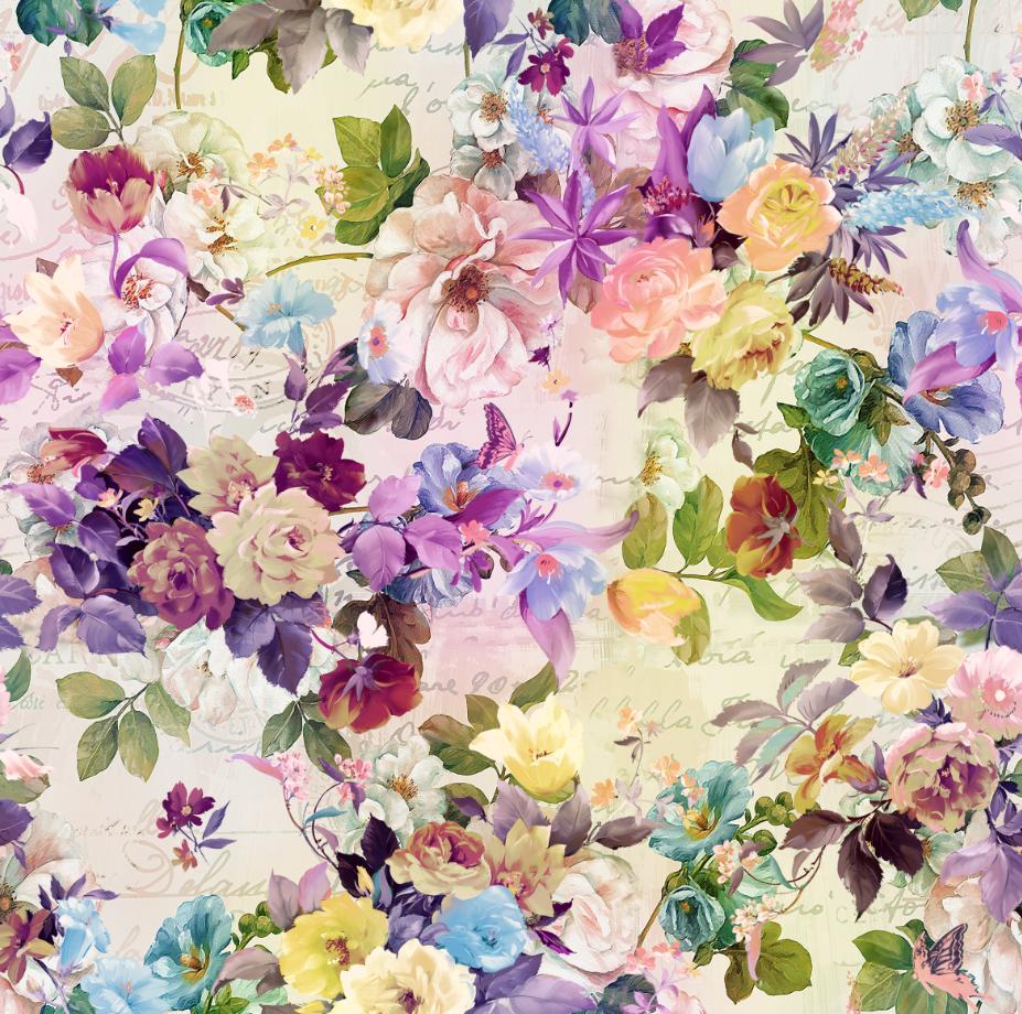 植物牡丹花卉印花图案服装纺织面料数码印花花型素材-POP花型网