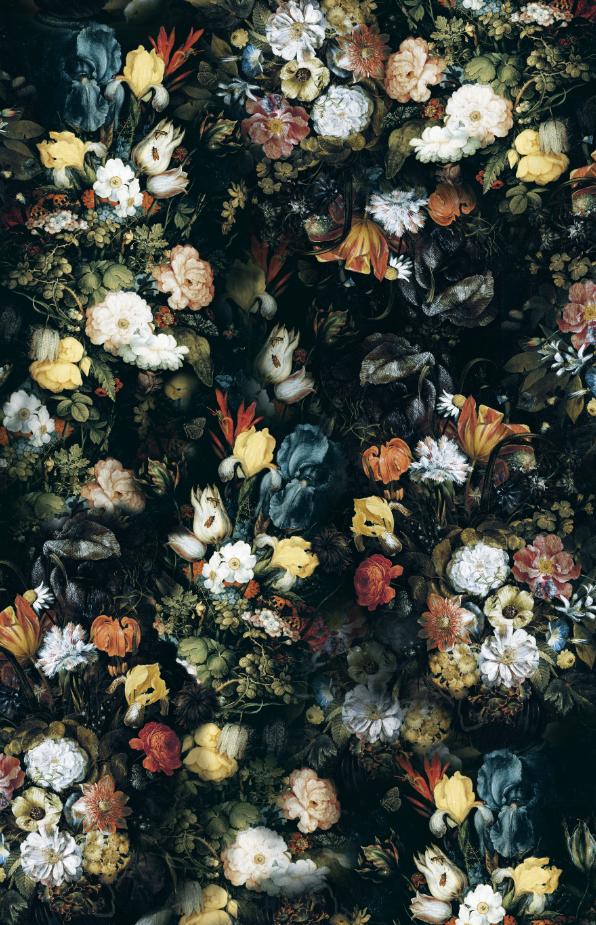 复古植物花卉印花图案服装纺织面料数码印花图案素材-POP花型网