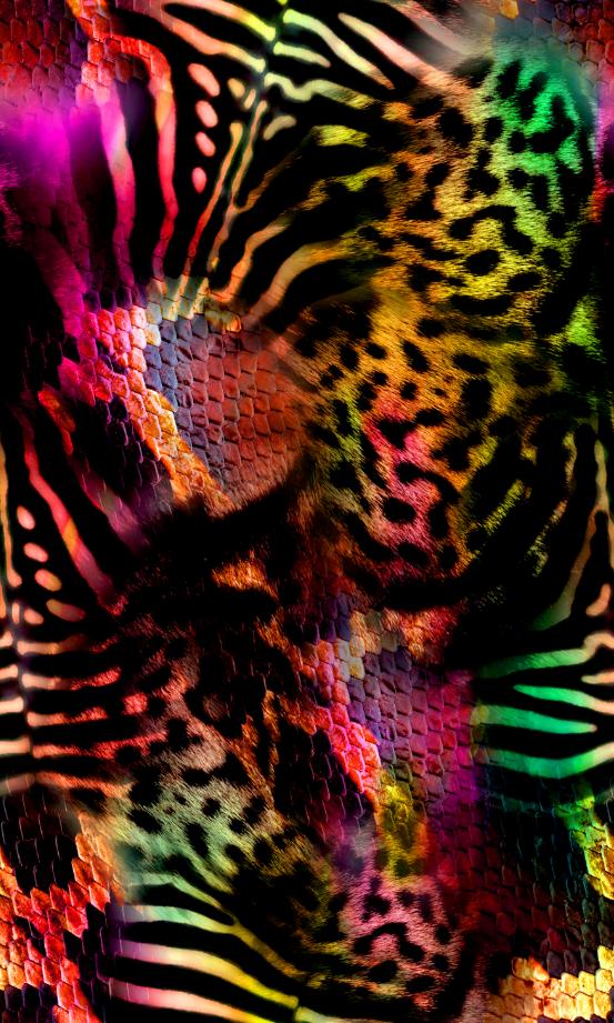 色彩几何豹纹印花图案服装纺织面料数码印花图案素材-POP花型网