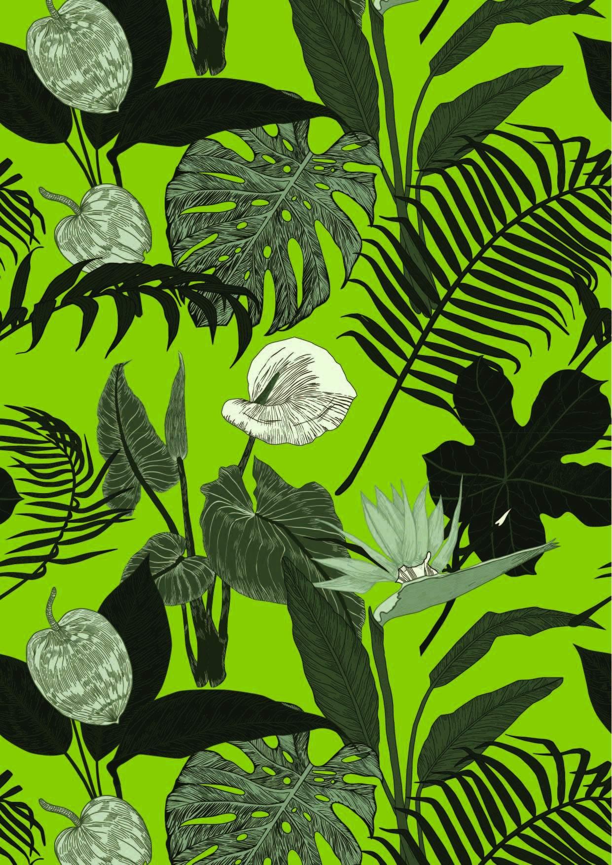 植物花卉印花矢量图服装纺织面料数码印花图案素材-POP花型网