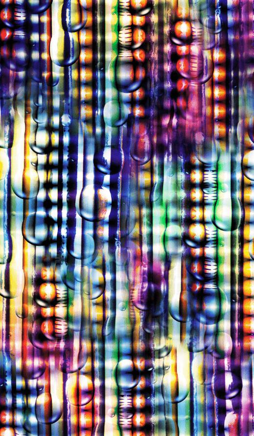 几何色彩水滴印花图案服装纺织面料数码印花素材-POP花型网