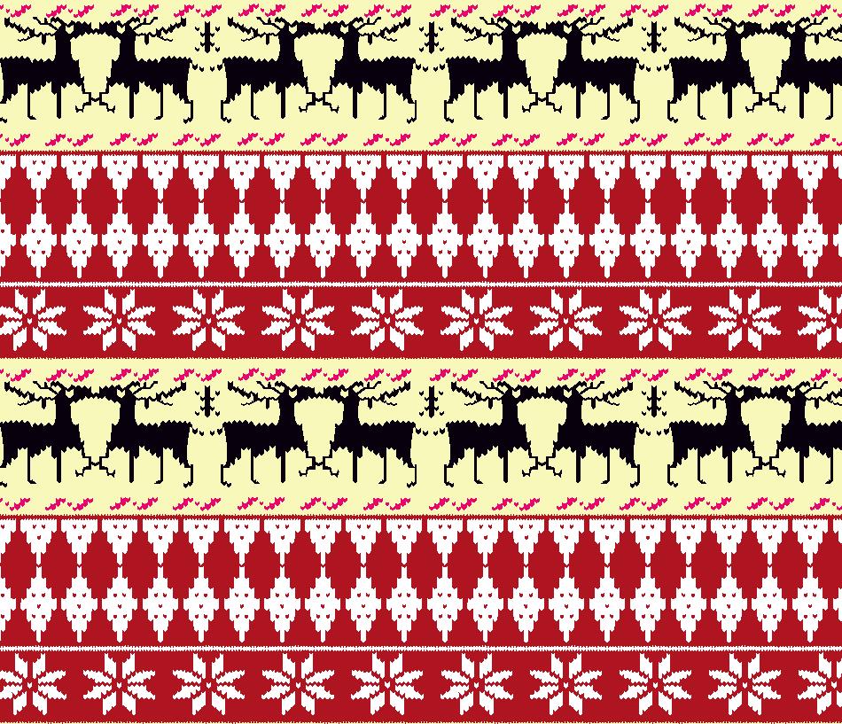 几何图案麋鹿印花矢量图服装纺织面料水印数码印花金昌花型素材-POP花型网
