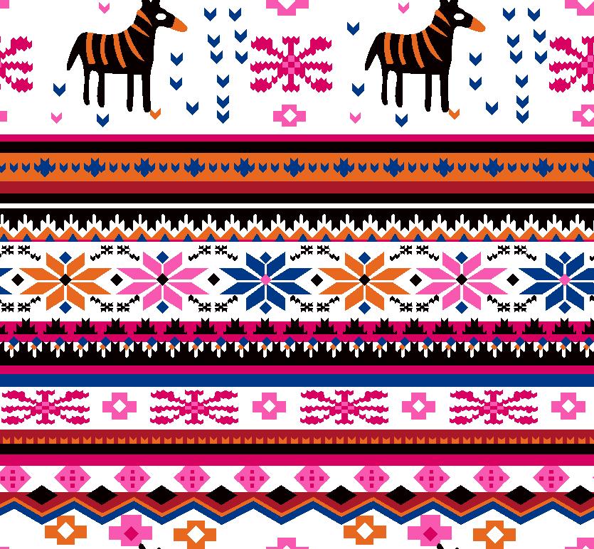 几何花纹图案拼接印花矢量图服装纺织面料水印数码印花花型素材-POP花型网