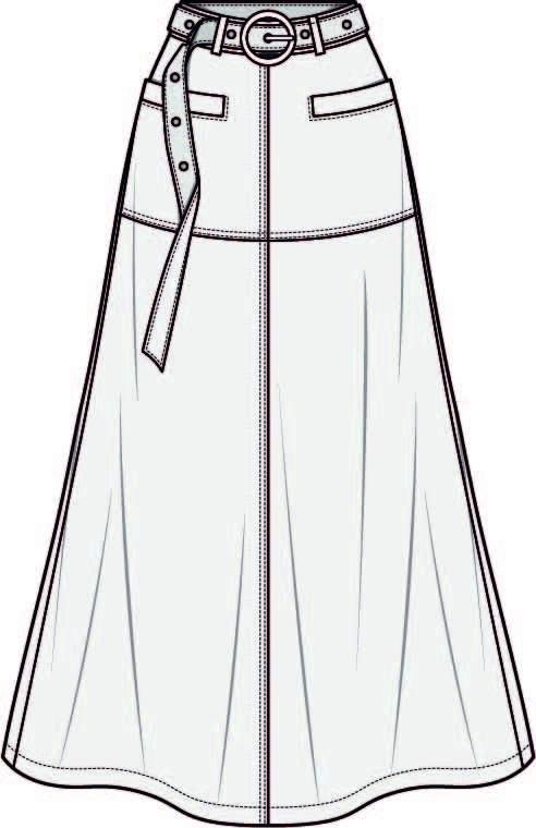 女装长裙设计手稿-POP花型网