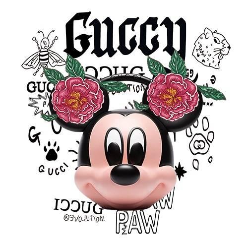 大牌字母GUCCI牡丹花卡通米妮潮牌印花矢量图服装裁片T恤烫图印花花型素材-POP花型网