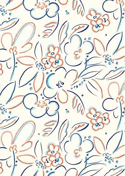 几何花卉印花矢量图服装纺织面料数码印花素材图案-POP花型网
