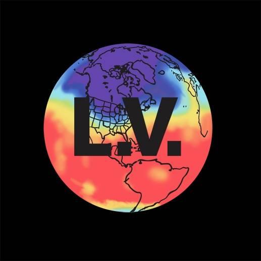 地球LV字母拼接印花矢量图服装裁片T恤烫图印花花型素材-POP花型网