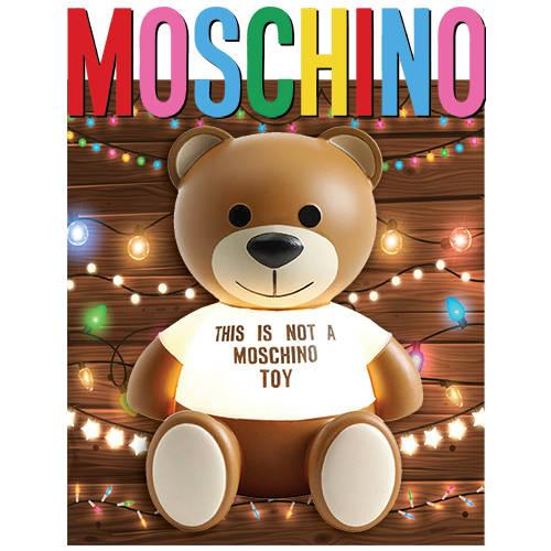 卡通动漫MOSCHINO熊霓虹灯几何线条拼接潮牌印花矢量图服装裁片T恤烫图印花花型素材-POP花型网