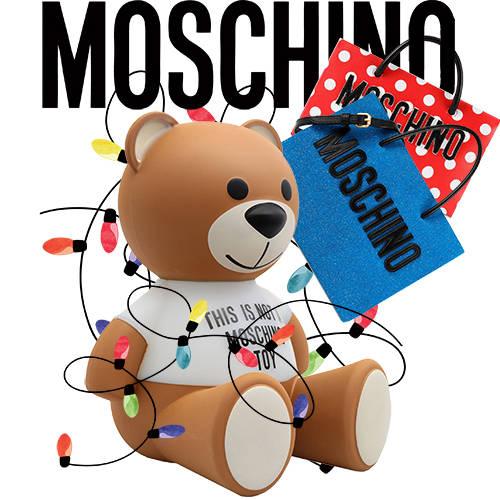 卡通动漫MOSCHINO熊购物袋拼接潮牌印花矢量图服装裁片T恤烫图印花花型素材-POP花型网