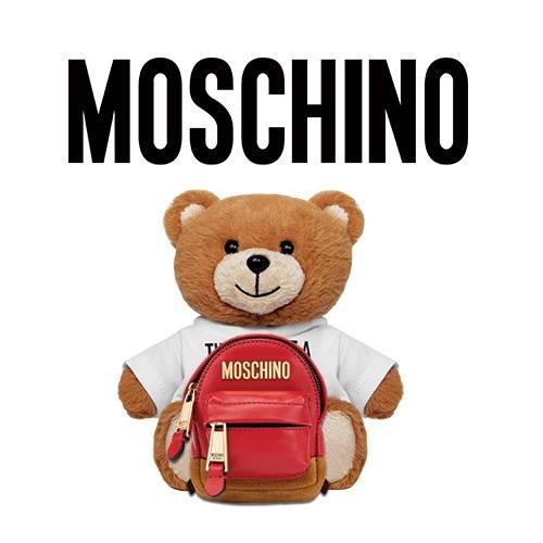 卡通潮牌MOSCHINO熊背包印花矢量图服装裁片T恤烫图印花花型素材-POP花型网