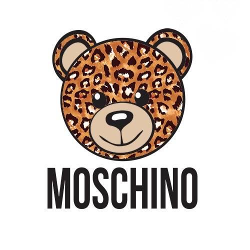 潮牌MOSCHINO熊印花矢量图服装裁片T恤烫图印花花型素材-POP花型网