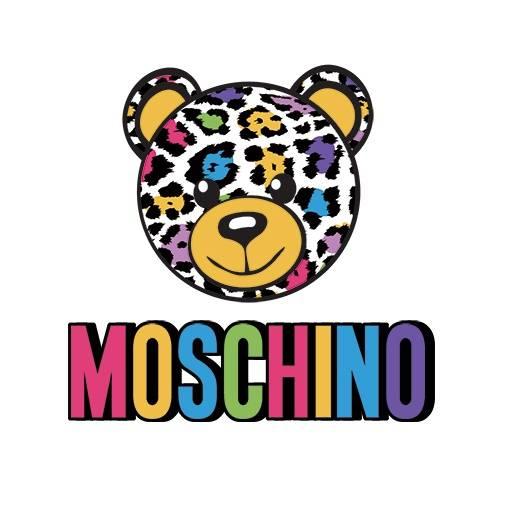 潮牌MOSCHINO熊豹纹印花矢量图服装裁片T恤烫图印花花型素材-POP花型网